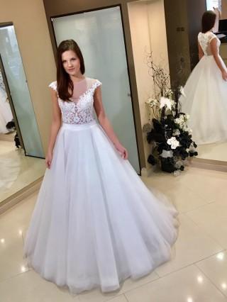 Model Daniela Burda in our wedding dresses