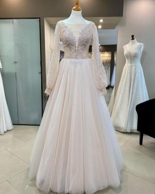 A new wedding dress in the salon