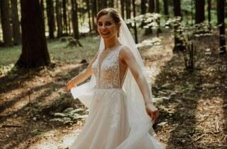 Pani Iwona w sesji ślubnej