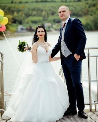 Pani Joasia i Pan Konrad w swojej sesji ślubnej