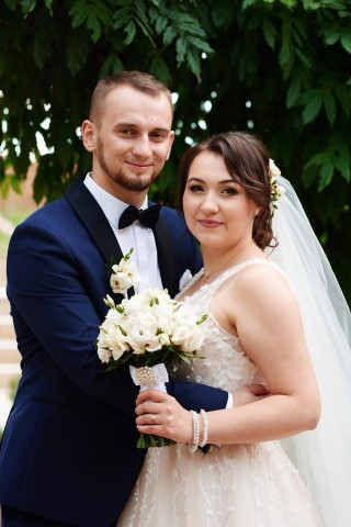 Mrs. Klaudia and her husband