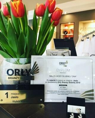 Salon Mody Ślubnej ONA laureatem plebiscytu Orły Branży Ślubnej 2019