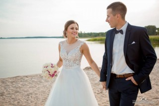 Wedding session of Mrs. Natalia and Mr. Tomek - Dress Lorange 1705