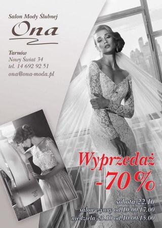Sale of wedding dresses Tarnów October 22-23, 2016